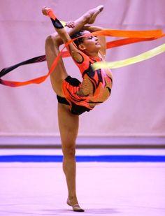 A dança da ginastica ritmica