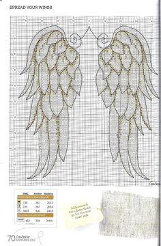 Cross stitch angel wings