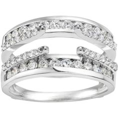 Wedding Ring Guard set in Sterling Silver (0.49 CT. Cubic Zirconia) TwoBirch,http://www.amazon.com/dp/B00CDF2VMK/ref=cm_sw_r_pi_dp_3Jn9sb19JMHS2RD1