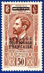 French Equatorial Africa 7 Stamp - Gabon Stamp - AF FEA 7-1 MH