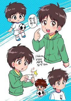 Captain Tsubasa, Chibi, Mikuo, Kawaii Faces, Disney Drawings, Fujoshi, Manga Anime, Soccer, Fan Art