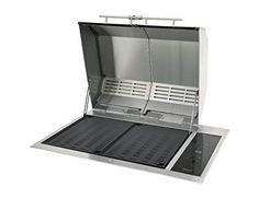 Kenyon Texan All Seasons Built-In Electric Grill > 2 elements in direct contact with cooking surface for efficient grilling Marine Grade Stainless Steel, rust-proof gaurantee for life UL Approved for Indoor AND Outdoor Use Grill Sale, Infrared Grills, Cooking Stores, Patio Grill, Backyard Bbq, Small Space Interior Design, Stainless Steel Grill, Grill Grates, Built In Grill