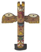 Kids can create colorful totem poles that express their artistic talent.