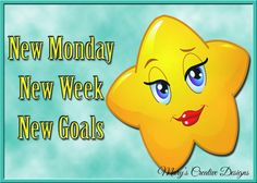 Day New Week New Goals, Days Of Week, Emoticon, Smiley, Tweety, Creative Design, Pikachu, Funny, Fictional Characters