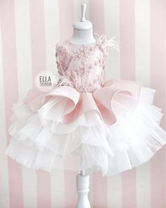 İpek Şantuk and three-dimensional lace combined with our model❣️ - Kindermode Baby Girl Party Dresses, Little Girl Dresses, Flower Girl Dresses, Dresses Dresses, Fashion Dresses, Little Girl Fashion, Kids Fashion, Baby Dress Design, Girls Dress Shoes