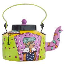 Rock n Roll Hand Painted Kettle   By Abhineet Aggarwal   Buy this beautiful kettle from The Art and Craft Gallery