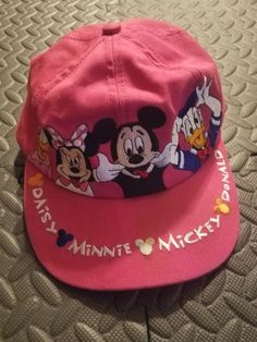 a770905f6fb33 Vintage Disney Cap Youth Snap Back Mickey Mouse Minnie Mouse Embroidered