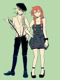Tags: Anime, Sisters, Suspenders, Reverse Trap, Twin Braids, Disney, Nanami0314