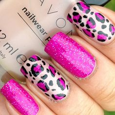 nail art ideas nail designs step by step nail name nail synonym print nail art print nail designs animal nail designs for nail art competition are animal nails called Leopard Nail Art, Leopard Print Nails, Animal Nail Art, Pink Leopard, Leopard Prints, Fancy Nails, Trendy Nails, Pink Nails, Great Nails