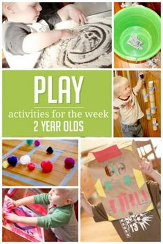 A week of simple activities to do with 2 year olds