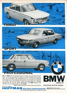 1965 BMW 1800 TI Advertisement Road & Track June 1965 | Flickr - Photo Sharing!