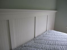 Beadboard Headboard by Wendy.Girl, via Flickr