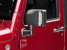 DV8 Off-Road LED Mirrors w/ Turn Signal Option (07-17 Wrangler JK) Led Mirror, Mirrors, Jeep Jk Parts, Jeep Lights, New Jeep Wrangler, Jeeps, Trucks, Tattoo, Cars