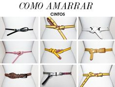 9 Ways to Tie Belts and How to Wear Style and Fashion Tips by Deisi Remus Look Fashion, Womens Fashion, Fashion Tips, Fashion Design, Fashion Trends, Look 2015, Fashion Vocabulary, Winter Mode, Personal Stylist
