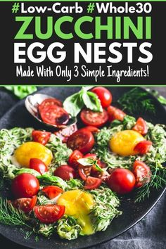 This Low-Carb Breakfast Egg Nest recipe is perfect for meal-prep. Prepare it ahead of time and make a double batch for quick & healthy breakfasts. Whole 30 Breakfast, Quick Healthy Breakfast, Free Breakfast, Breakfast Ideas, Healthy Meals, Breakfast Recipes, Healthy Eating, Low Carb Recipes, Real Food Recipes