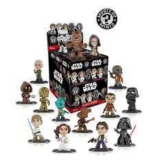 Your favorite characters from Star Wars, as stylized vinyl Mystery Minis from Funko. Figures stand 3 inches and comes in a mystery blind box. Check out the other Star Wars figures from Funko. Collect them all!