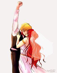 pyrrha x jaune wedding feels pyrrha is the best thing that happened to jaune and he knows it (Jaune be like F**k yeah) Team Jnpr, Team Rwby, Rwby Jaune, Rwby Pyrrha, School Rumble, Pyrrha Nikos, Anime Wedding, Wedding Art, Fall Anime