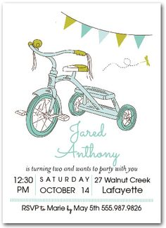 Boy Tricycle Birthday Party
