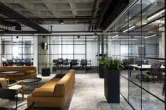 Stunning Open-Space Revolut Offices by Thirdway Interiors Foster Motivation and Teamwork – Office lounge Open Concept Office, Open Office Design, Open Space Office, Office Interior Design, Office Interiors, Office Workspace, Industrial Workspace, Design Offices, Workplace Design