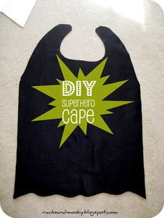 """RACKS and Mooby: How To Make a Superhero Cape {no sew!} from fleece. Bottom is finished with """"squigglies"""". I could sew ribbon on the flaps for the neck closure or a button and loop closure.....but I guess then it would be an almost no sew project."""