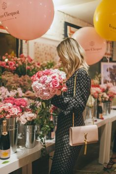 Build your own bouquet bar at Gray Malin's Veuve Cliquot party