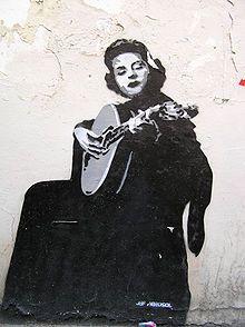 Amalia Rodrigues (1920-1999) street art, Lisbon