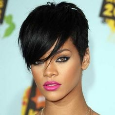 Are you a die-hard fan of Rihanna? Then, would you like to imitate her hairstyles and look stunning? Here are 10 trendy Rihanna short hairstyles for you to look at Rihanna Hairstyles, Pixie Hairstyles, Black Women Hairstyles, Rihanna Haircut, Party Hairstyles, Celebrity Hairstyles, Short Quick Weave Hairstyles, Edgy Haircuts, Ethnic Hairstyles