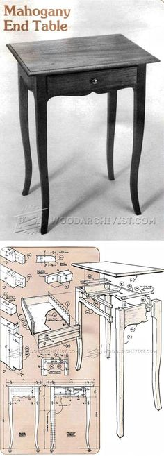 Mahogany End Table Plan - Furniture Plans and Projects | WoodArchivist.com