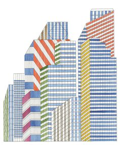Urban Illustrations by Nigel Peake – Design & Trend Report City Drawing, Painting & Drawing, Line Illustration, Illustrations, Photomontage, House Doodle, Arte Popular, Architecture Drawings, Sculptures