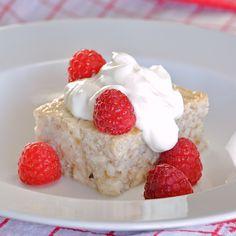 OATMEAL CUSTARD (E) Use egg whites and almond milk..... I used strawberries. A winner here!