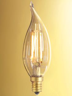 """Vintage Style Flame Candelabra Base LED Filament Bulb - 2W 