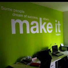 Good Ideas Corporate Office Design Make Happy Worker Corporate Office Design, Office Wall Design, Office Mural, Office Branding, Office Wall Art, Office Walls, Office Spaces, Corporate Offices, Office Lobby
