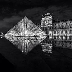 The #Louvre by night. Photo courtesy of nodestinations on Instagram.