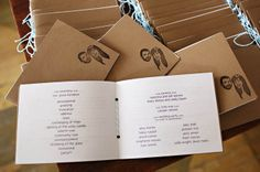 love these little wedding programs - they are so sweet