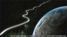 """2014年春、岐阜県飛騨市の池ノ山地下深くに、長さ6キロの巨大なL字型トンネルが姿を現した。ここで2015年12月から観測を始めるのが、東京大学宇宙線研究所を中心に国内外60以上の機関が参加し150億円の予算を投入する大型プロジェクト、最先端の大型重力波望遠鏡「KAGRA(かぐら)」だ。今、各国の研究機関が 世界各地に巨大な観測装置を建設し、重力波観測の一番乗りを目指している。重力波とは、物理学者アルバート・アインシュタインが、およそ100年前に一般相対性理論のなかで予言した現象だ。アインシュタインは、質量を持つ天体は周囲の空間を歪め、その歪みは波のように光の速さで伝搬すると考えた。宇宙を海とイメージすれば、天体という船が動くたびに、波のように重力波が生まれ宇宙を伝わっていくというものだ。宇宙で生まれる無数の重力波は地球に届くと、人間の耳で聞こえる周波数帯であるため、もし増幅することができれば""""宇宙…"""