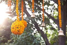 Hanging marigold garlands. Not sure how / where we would use. But, I like the idea. Wedding Decorations by angad84, via Flickr