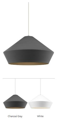 Brummel Grande by Tech Lighting - 20: dia. - Clean, sharp lines of the Brummel Grande pendant light from Tech Lighting harmonize with the soft, matte finish of this large scale, impactful, mid-century inspired spun metal shade.