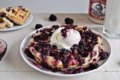 blackberry cobbler waffles