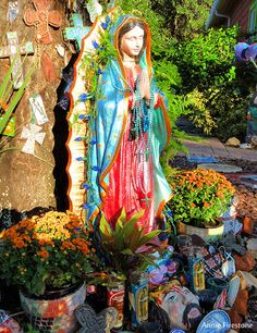 "Mary Shrine outside of Divine Excess - Village of the Arts ""Festival of Skeletons"" Honors Frida Kahlo - Bradenton, FL Patch"