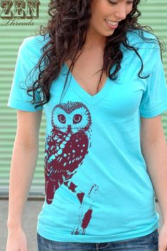 Owl v-neck shirt Gabie would wear because like I said, she is very girly, but likes being comfortable!