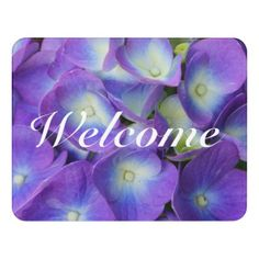 Beauty Of a Blue Hydrangea Door Sign - photography gifts diy custom unique special