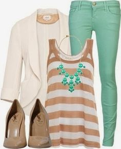 Nude & mint outfit, style, fashion, clothing, outfit, cute outfit, women fashion, work outfit, work fashion, heels