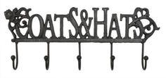 Vintage-Style-Black-dark-metal-Cast-Iron-Coat-Hooks-shabby-chic