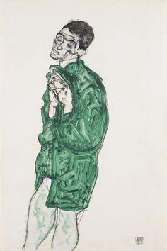 Egon Schiele (Austrian 1890–1918) Self-portrait with closed eyes (Selbstdarstellung mit geschlossenen Augen), 1914 Leopold Museum, Vienna, Austria