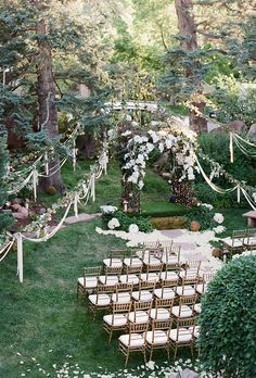 30 Cozy Rustic Backyard Wedding Decoration Ideas ❤ rustic backyard wedding decoration whitewashing ceremony with a lush arch of white flowers and ribbons jenna walker photography ❤ See more: http://www.weddingforward.com/rustic-backyard-wedding-decoration/ #weddingforward #wedding #bride #rusticwedding #rustic-backyardweddingdecoration