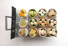Miniature Dim Sum Trolley Dollhouse Yum Cha by mumsmagicfingers