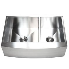 """Found it at Wayfair - Ariel 33"""" x 22"""" Stainless Steel 60/40 Double Bowl…"""