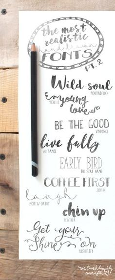 Love the messaging in these simple font examples.  20 Free Romantic and Vintage Graphics | We Lived Happily Ever After | Bloglovin'