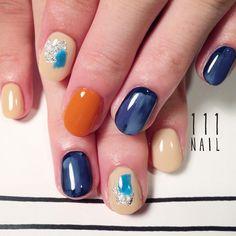 ▫️◽️ #nail#art#nailart#ネイル#ネイルアート#nuance#ワンカラー#silver#シンプルネイル#ショートネイル#nailsalon#ネイルサロン#表参道