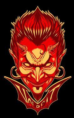 Volbeat Merch Illustration by Zombie Yeti, via Behance